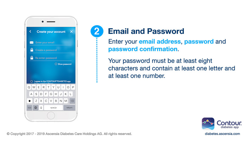 Enter date of birth, email and your password when prompted