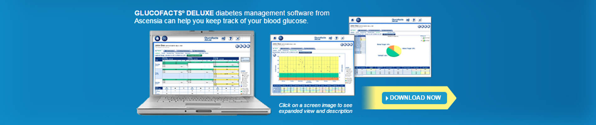 Glucofacts Deluxe allows you to quickly and easily display and print all your information, with simple charts and graphs.