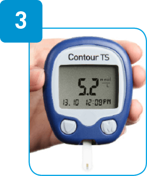 Contour TS meter with reading