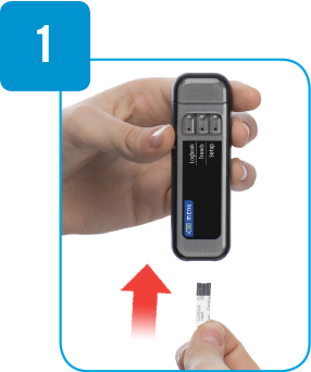 Insert test strip into Contour Next Link meter